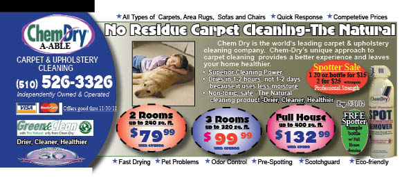 Deals  Discounts  chem dry12 11 111 EAST BAY ORGANIC CARPET CLEANER   FREE SPOTTER   NON TOXIC CARPET CLEANING, MATTRESS CLEANING, AREA RUG CLEANING