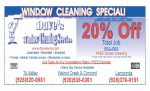 Deals  Discounts  DAVES WINDOW CLENAING new and improved 1 11 300x182 21 FREE GIFTS !