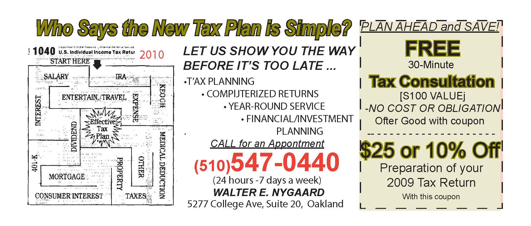 Tax coupons