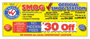Deals  Discounts  Official Smog 5 111 300x131 OVERSTOCK up to 60% OFF  FREE COUPONS   FREE BAY AREA COUPONS, FREE TEXT COUPONS for Oakland,  East Bay