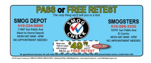 Deals  Discounts  smog dpot mogsters 3 11  300x127 OVERSTOCK up to 60% OFF  FREE COUPONS   FREE BAY AREA COUPONS, FREE TEXT COUPONS for Oakland,  East Bay