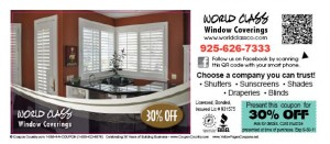 Deals  Discounts  world class window coverings 6 11 300x131 OVERSTOCK up to 60% OFF  FREE COUPONS   FREE BAY AREA COUPONS, FREE TEXT COUPONS for Oakland,  East Bay