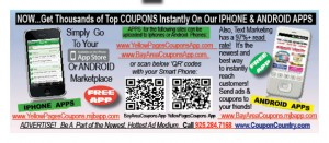 Coupon Codes Deals Coupons  Discounts APPS PROMO coupon 1 300x131  COUPON APPS / FREE TEXT COUPONS  Latest Deals Delivered to your Cell Phone
