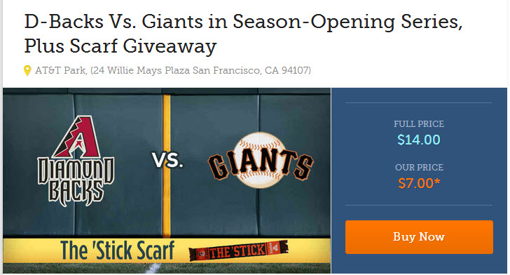 Deals  Discounts  giants arizonas opening series HALF PRICE MOVIES, SHOWTIMES,DEALS ONE CLICK AWAY   GIANTS TIX $7