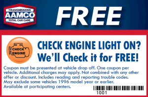 AAMCO FREE CHECK LIGHT