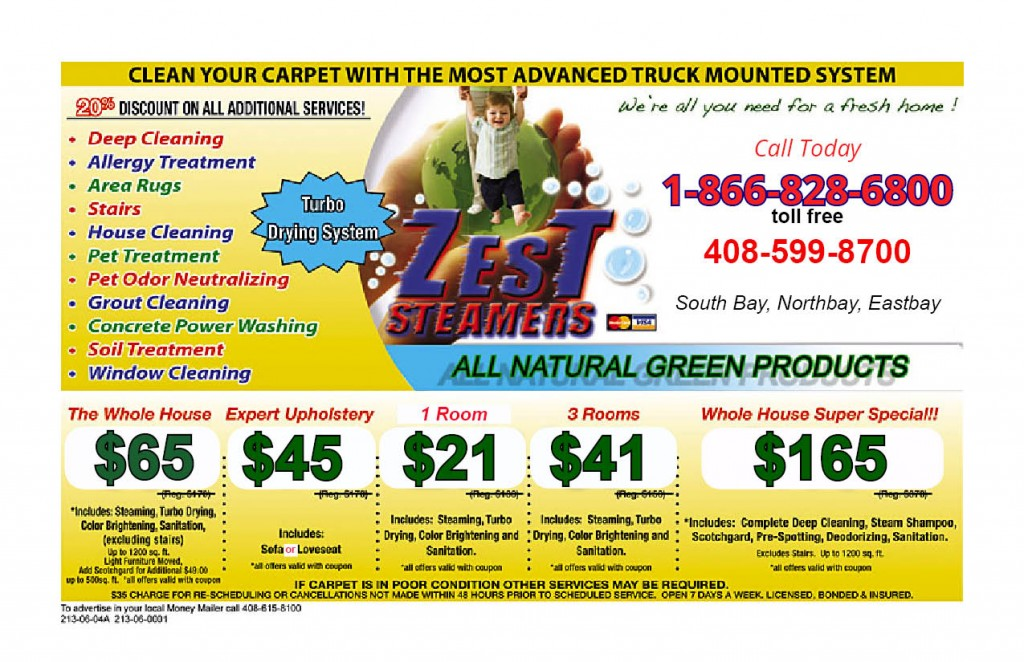 ZEST OFFICIAL coupon 8-7-13