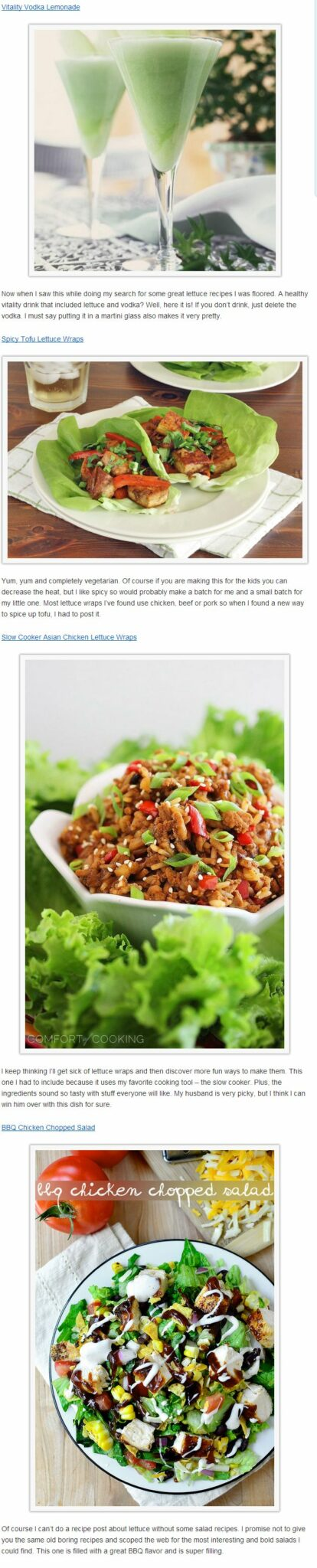 lelttuce healthy and recipes PART 2