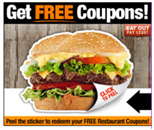 Get FREE Coupons burger 225